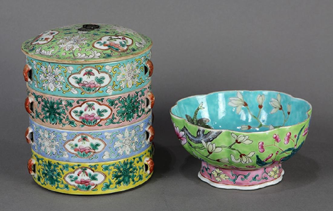 Chinese Porcelain Box and Bowl - 4