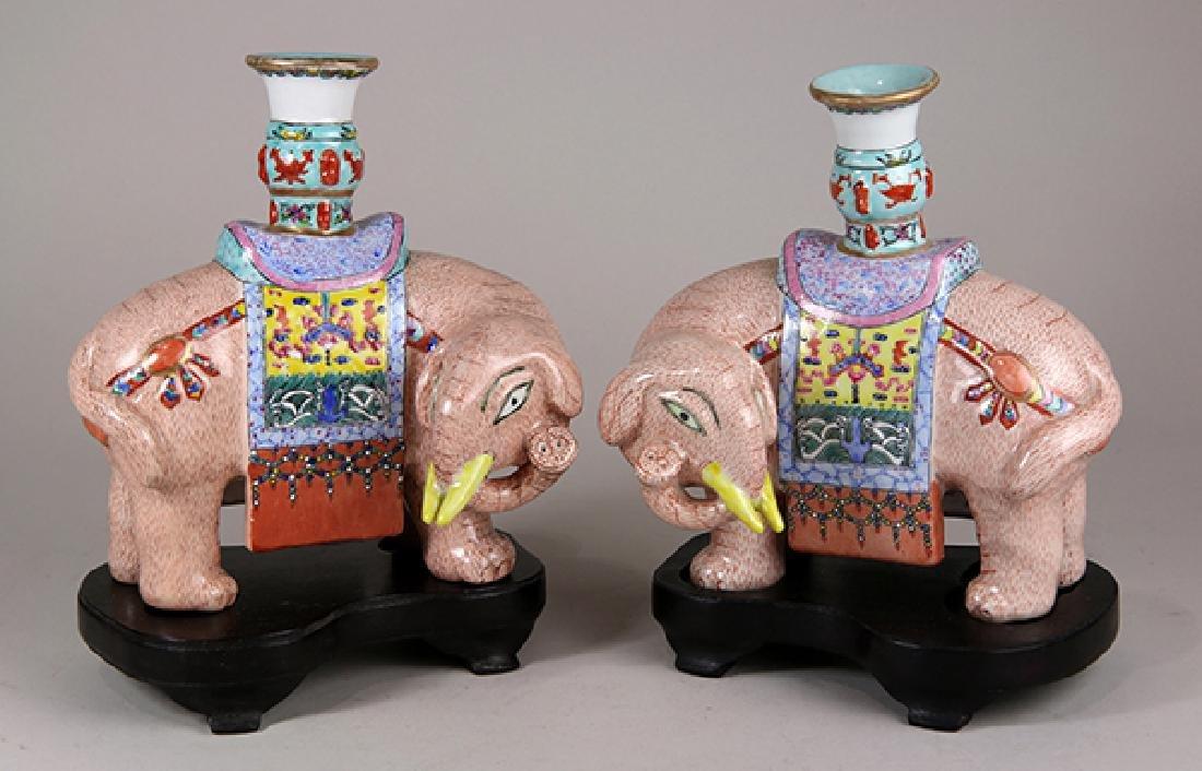 Chinese Porcelain Elephants