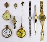 Lot of 9 Goldfilled and metal watches