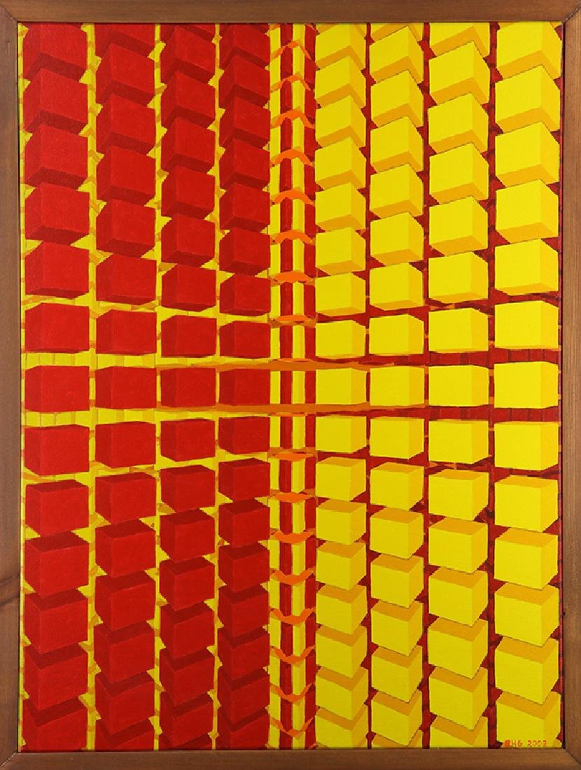 Painting, Red and Yellow Optic
