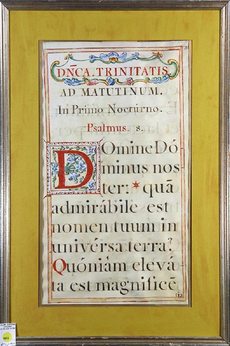 vellum illuminated manuscript page