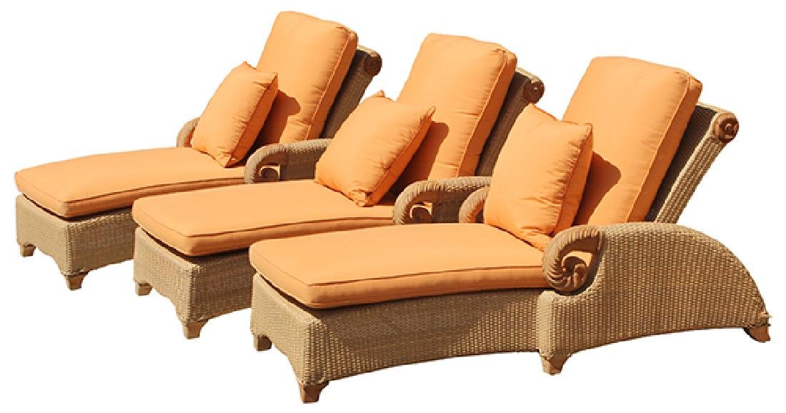 (lot of 3) Brown Jordan adjustable chaise lounges