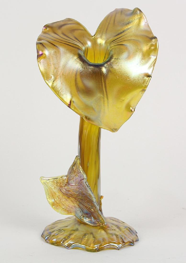 Jack in the pulpit iridescent gold glass vase loetz jack in the pulpit iridescent gold glass vase reviewsmspy