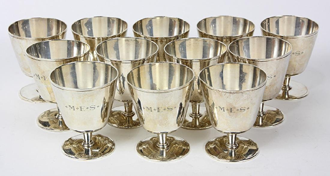 (Lot of 12) Tiffany Studios cocktail cordials, each