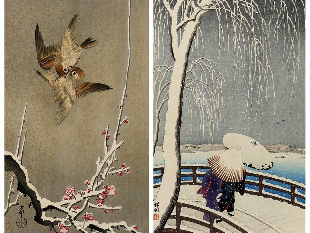 Japanese Woodblock Prints, Ohara Koson