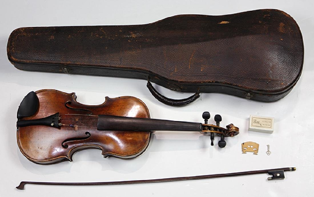 Student violin, after Joseph Guarnerius, together with