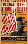 After Billie Holiday Concert Poster (Joe Glaser