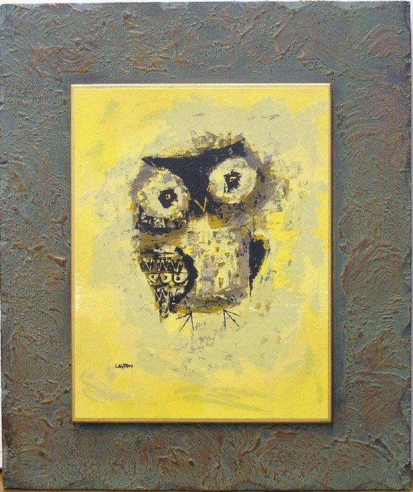 4007: Midcentury Owl print, Layton