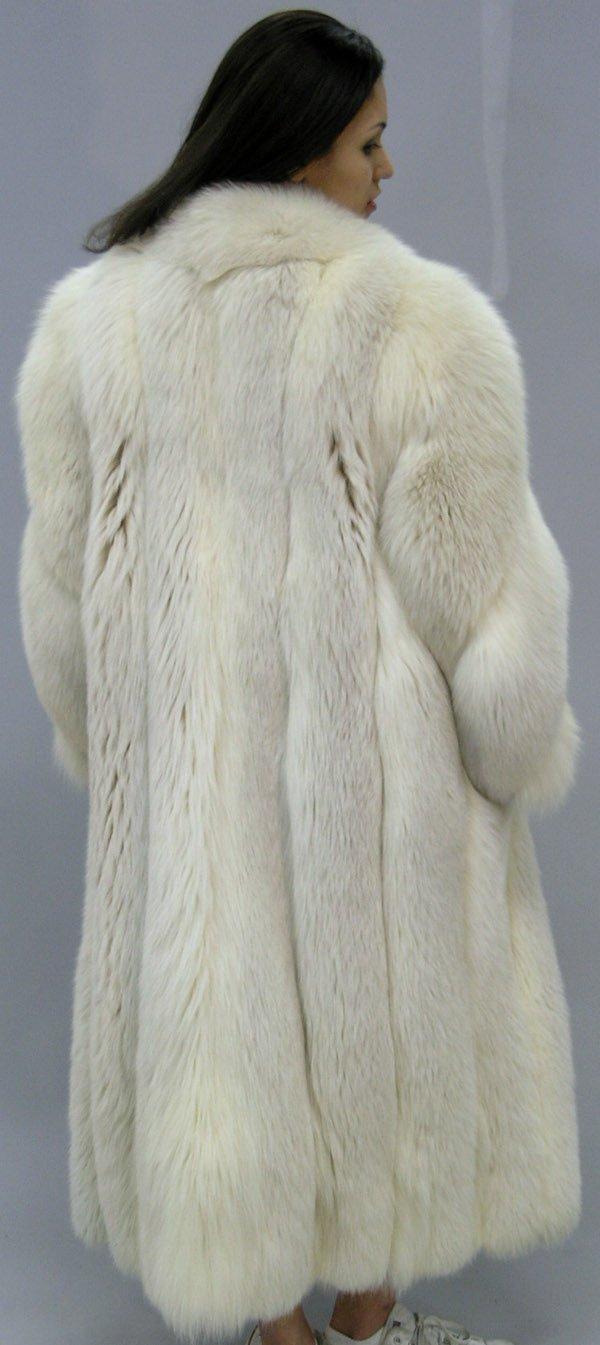 4290: Full length silver fox coat - 3