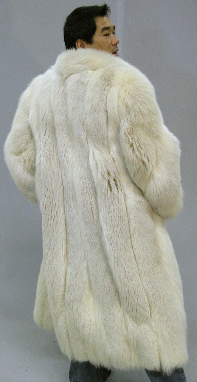 4290: Full length silver fox coat - 5