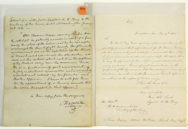 6014: Period Oliver Perry copy Breese docs