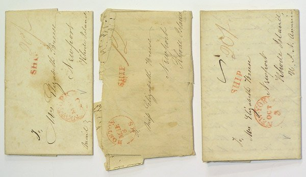 6021: Stampless covers 1820s US Constitution