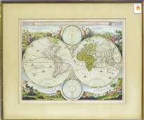 6084 Doublehemisphere world map Stoopendaal
