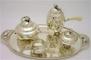 6731: Georg Jensen Danish silver Blossom