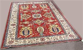 """Uzbek Kazak carpet, 6' x 8'5"""""""