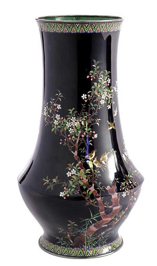 Japanese Ando Cloisonne Vase Meiji