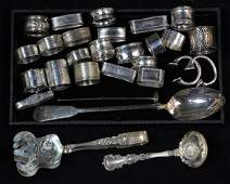 (lot of 28) Collection of sterling and silverplate