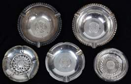 lot of 5 Peruvian sterling silver finger bowls and