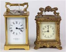 (lot of 2) Antique carriage clock group