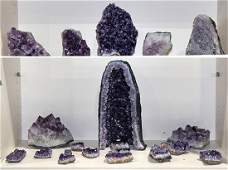 lot of 20 Amethyst crystal cluster point and geode
