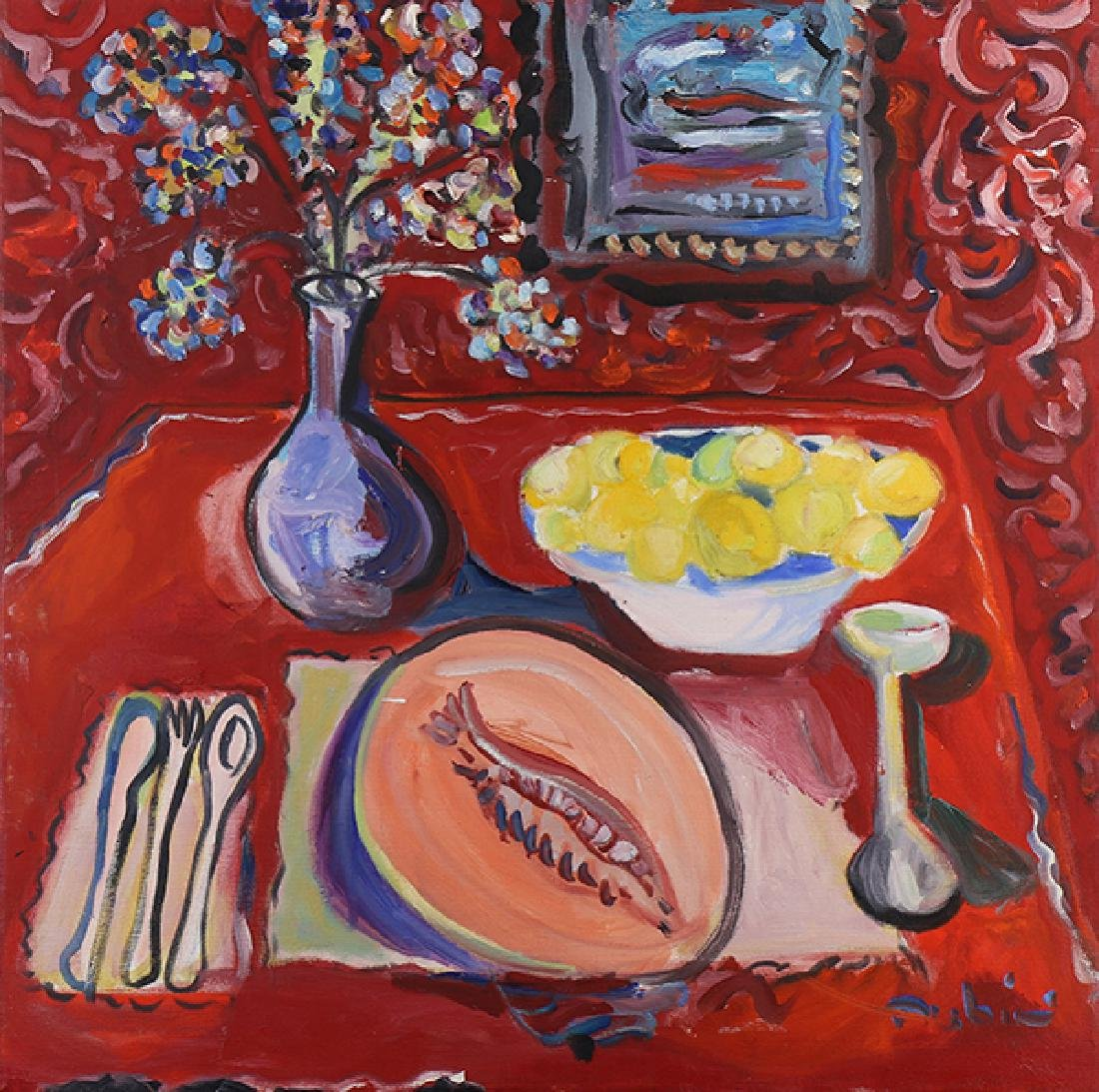 Painting, Table Still Life with Melon