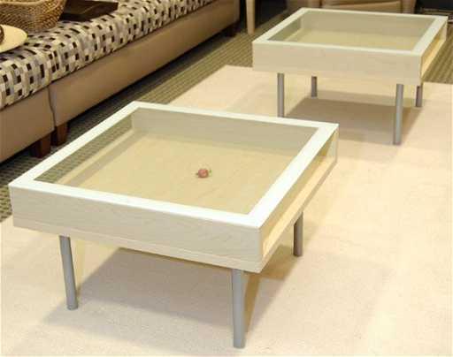 8069 Ikea Magiker Glass Coffee Table