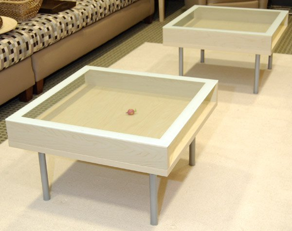 Ikea Magiker glass coffee table
