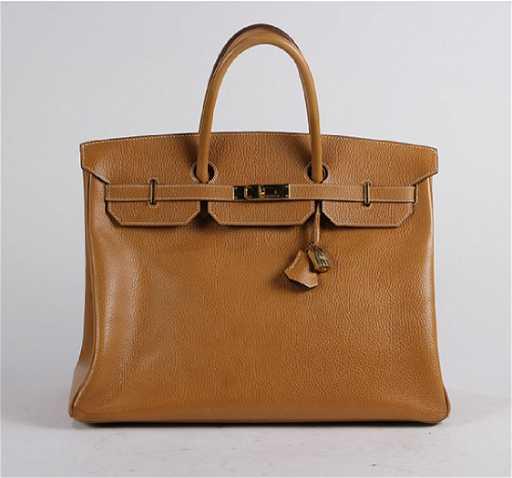 9d027608ec97 Hermes 35 tan togo Birkin leather bag with palladium