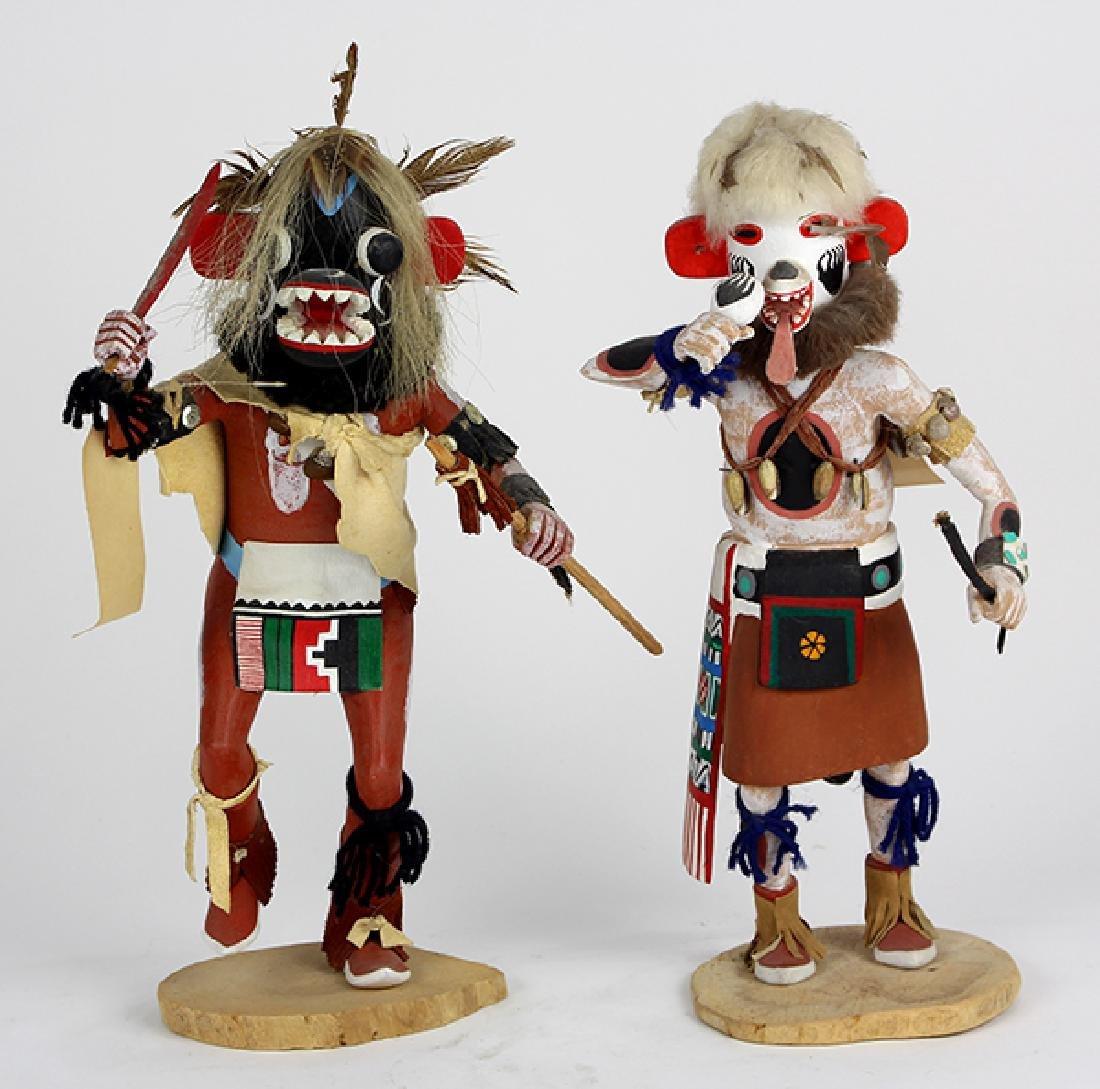 (lot of 2) Large Hopi ogre kachina dolls
