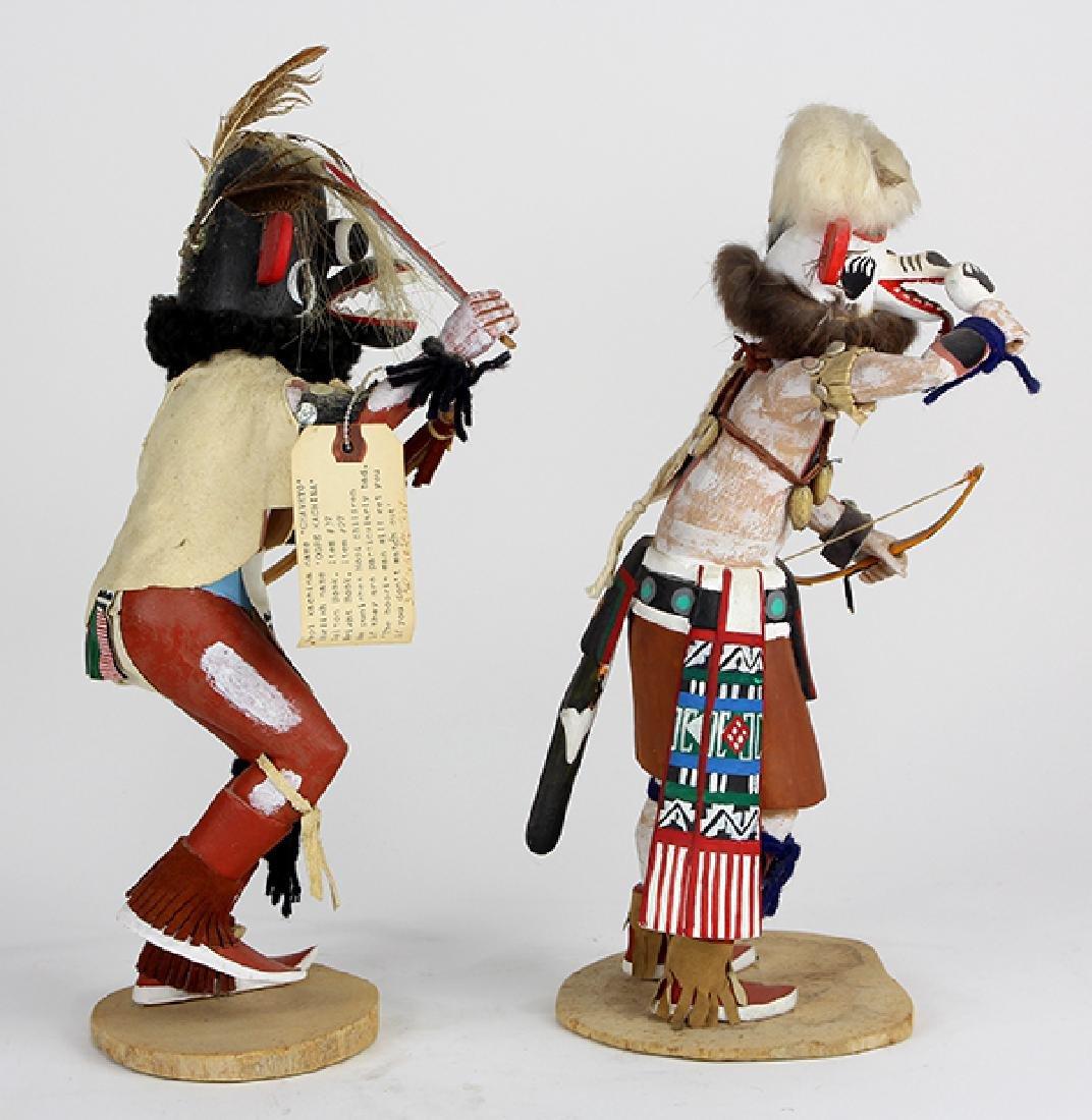 (lot of 2) Large Hopi ogre kachina dolls - 2