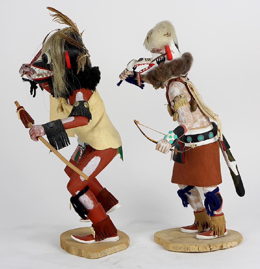 (lot of 2) Large Hopi ogre kachina dolls - 4