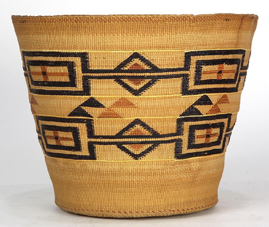 Tlingit polychrome basket - 2