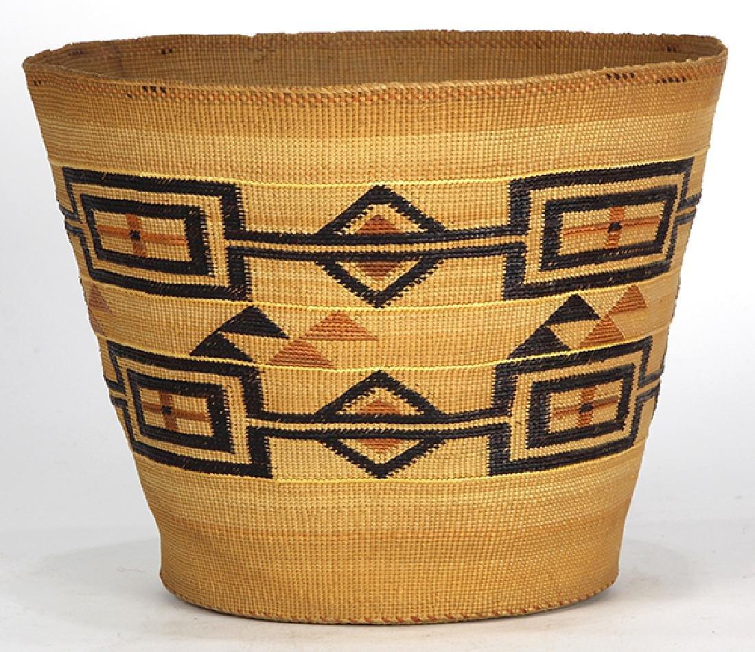 Tlingit polychrome basket - 4