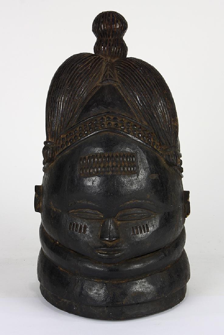 Bundu helmet mask used in dances by the Sande Society