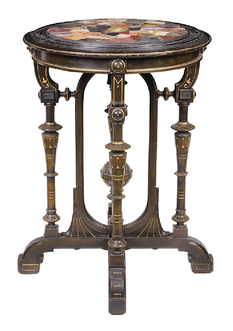 Victorian partial gilt and ebonized occasional table - 2