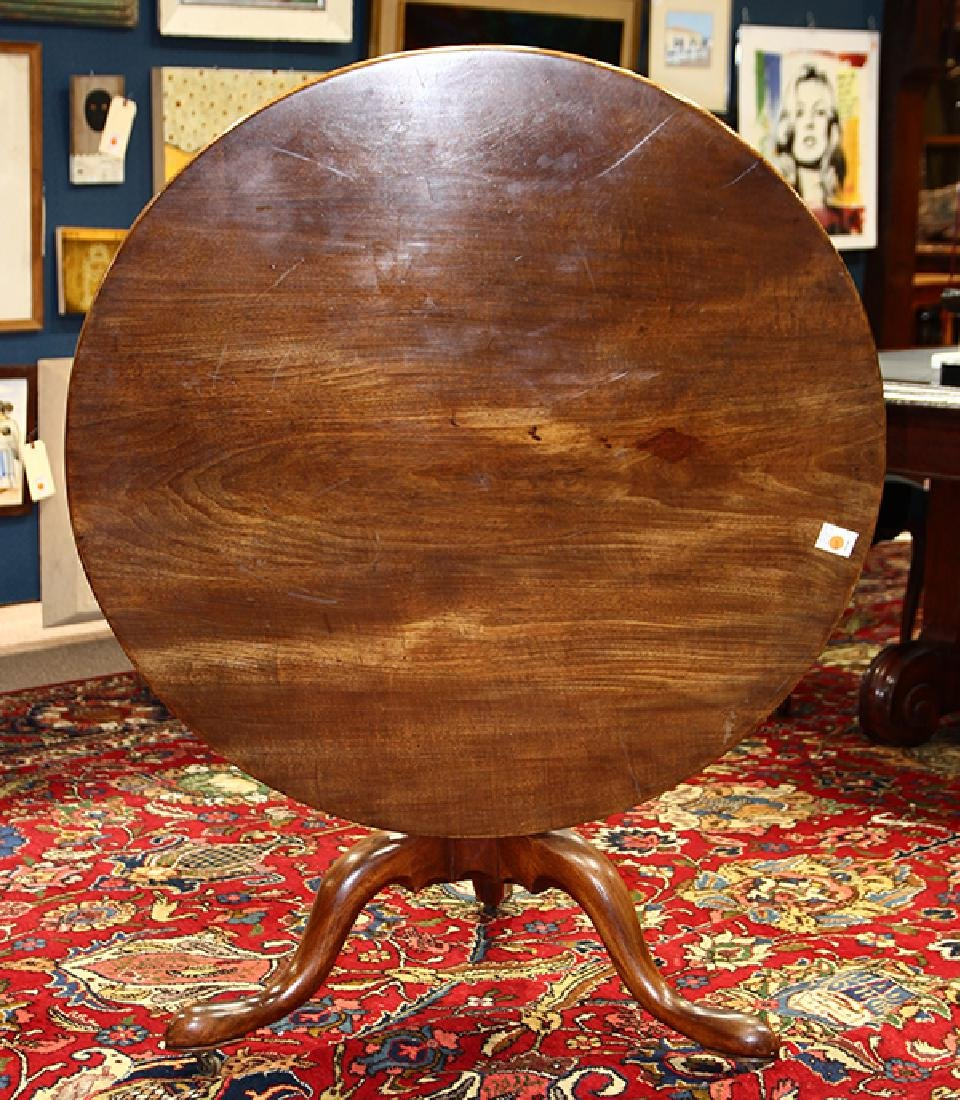 George III mahogany tilt top tripod table - 4