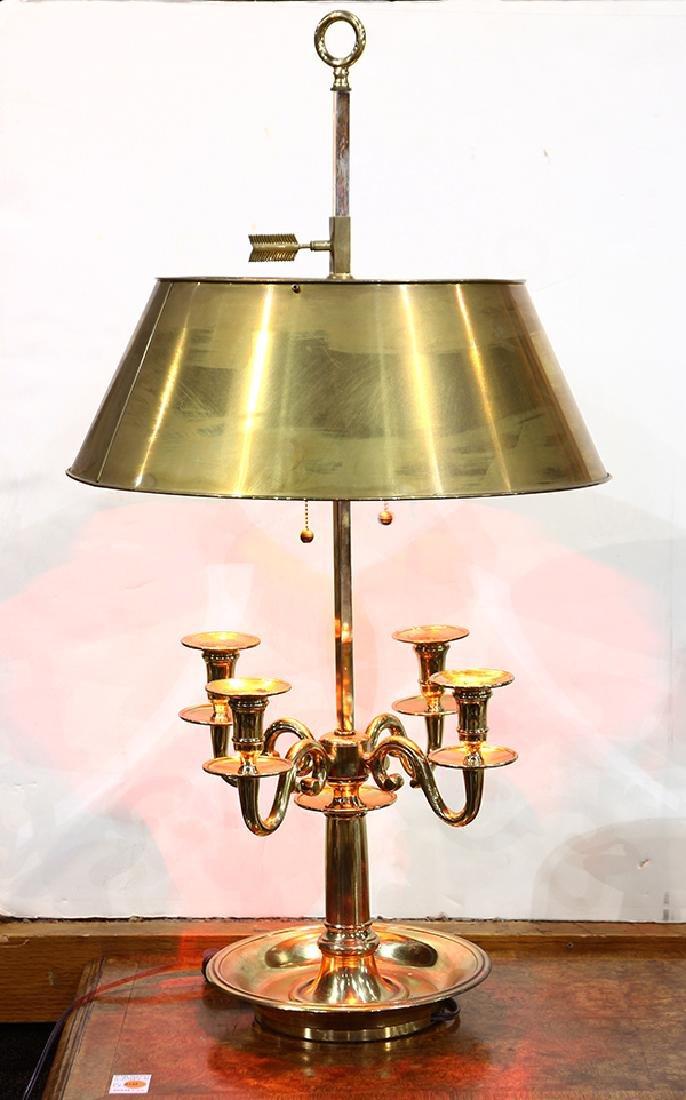 Louis XVI style gilt bouillotte lamp