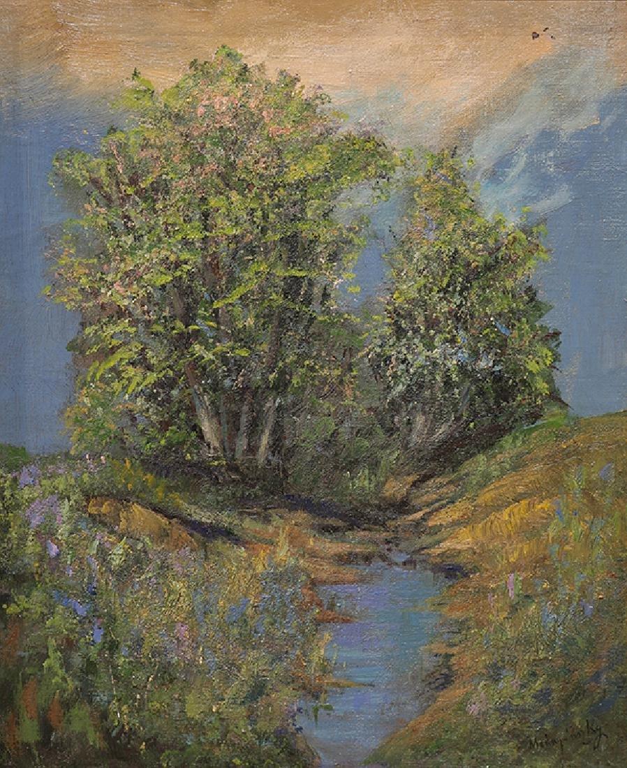 Painting, Laszlo Mednyanszky