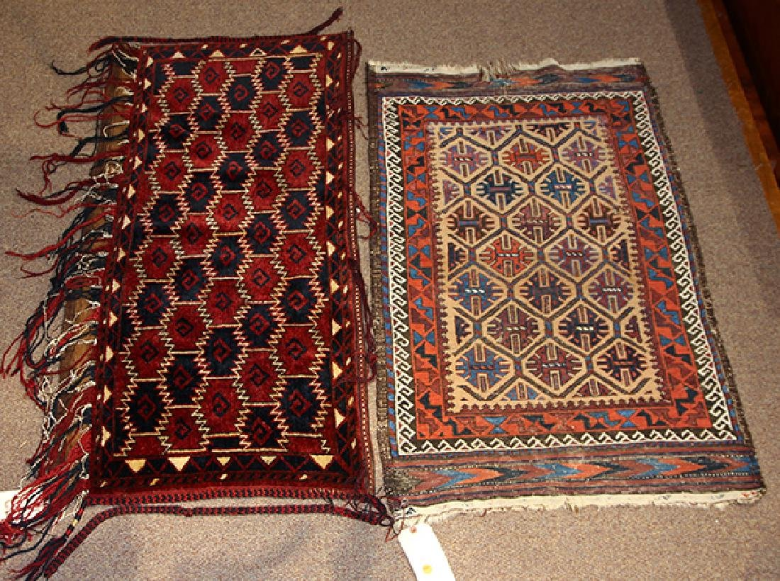 """(lot of 2) Turkoman tent hanging, 4'7"""" x 2'5"""", together"""