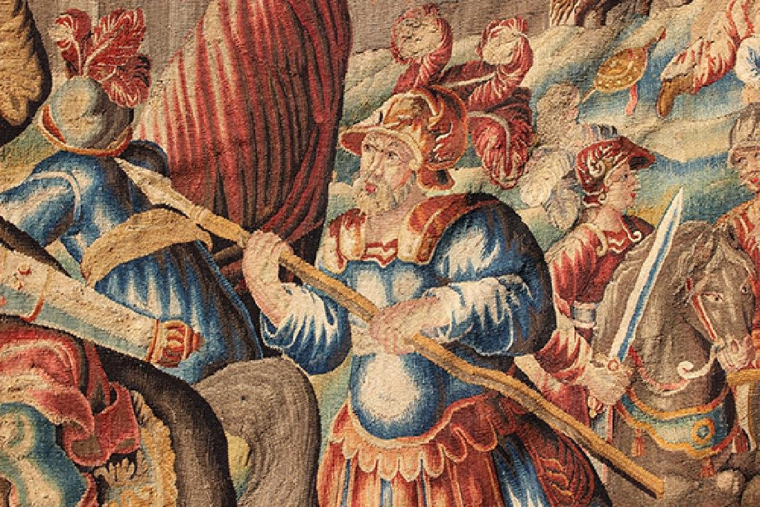 Flemish tapestry 17th century, depicting the Alexander - 2