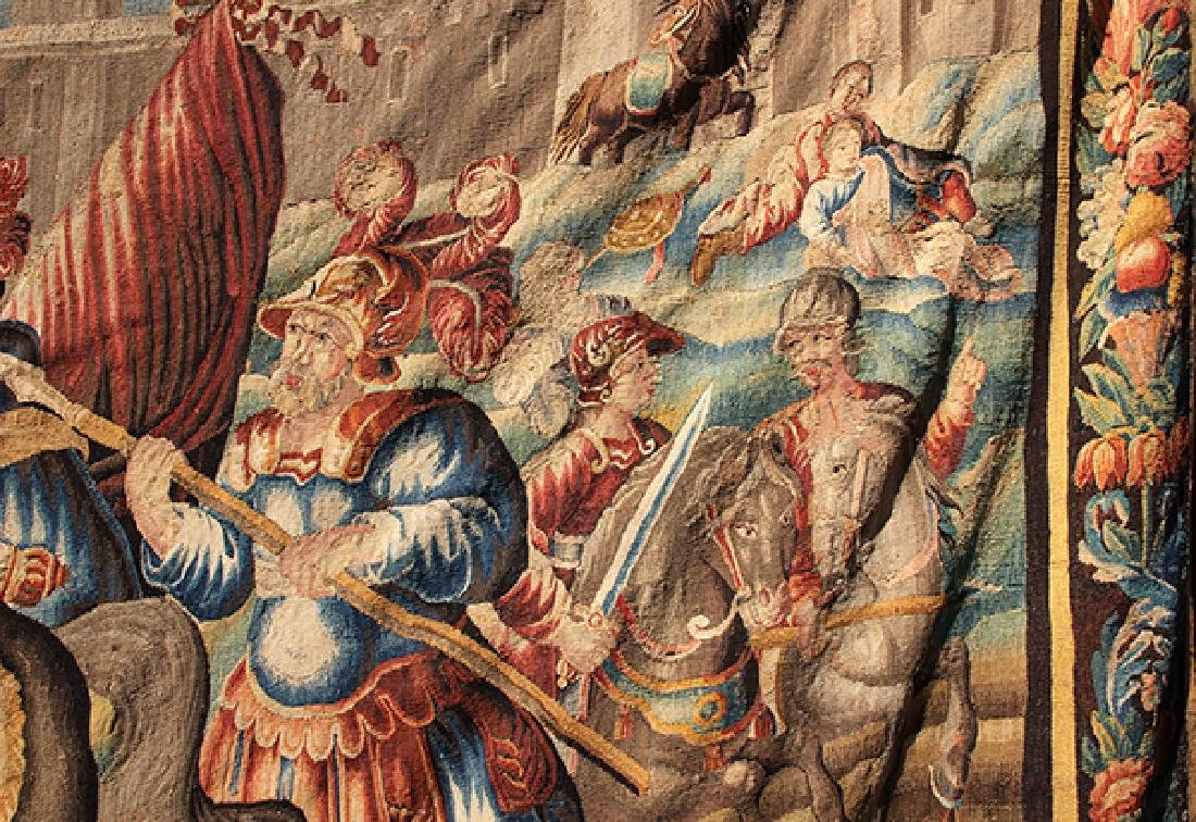 Flemish tapestry 17th century, depicting the Alexander - 4