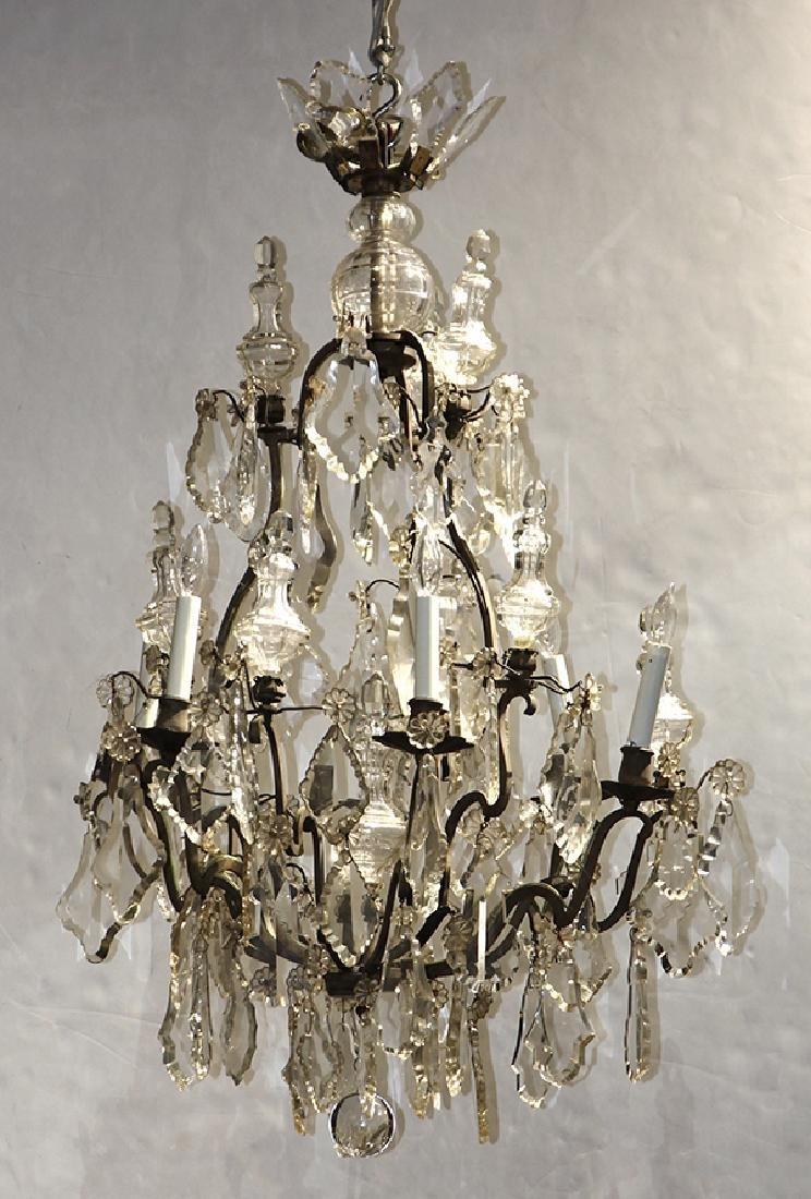 Continental six light chandelier