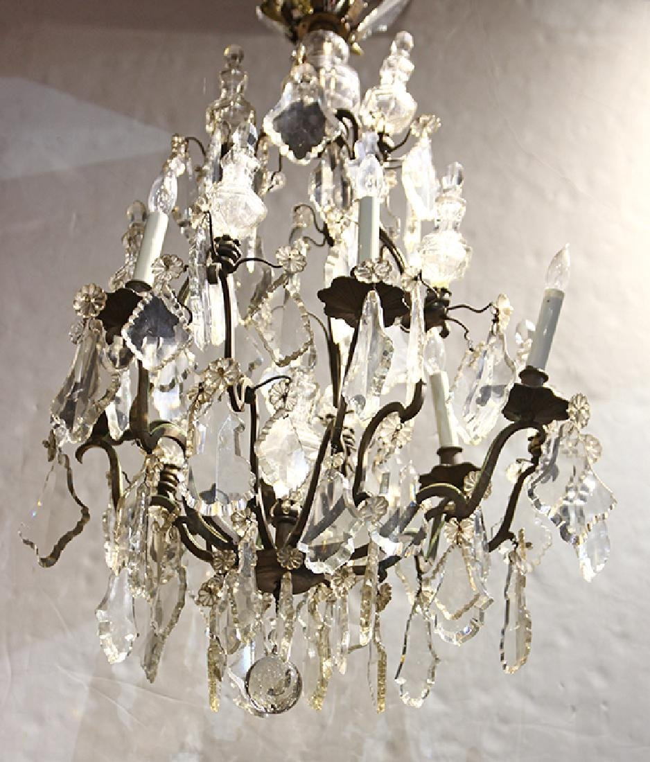 Continental six light chandelier - 2