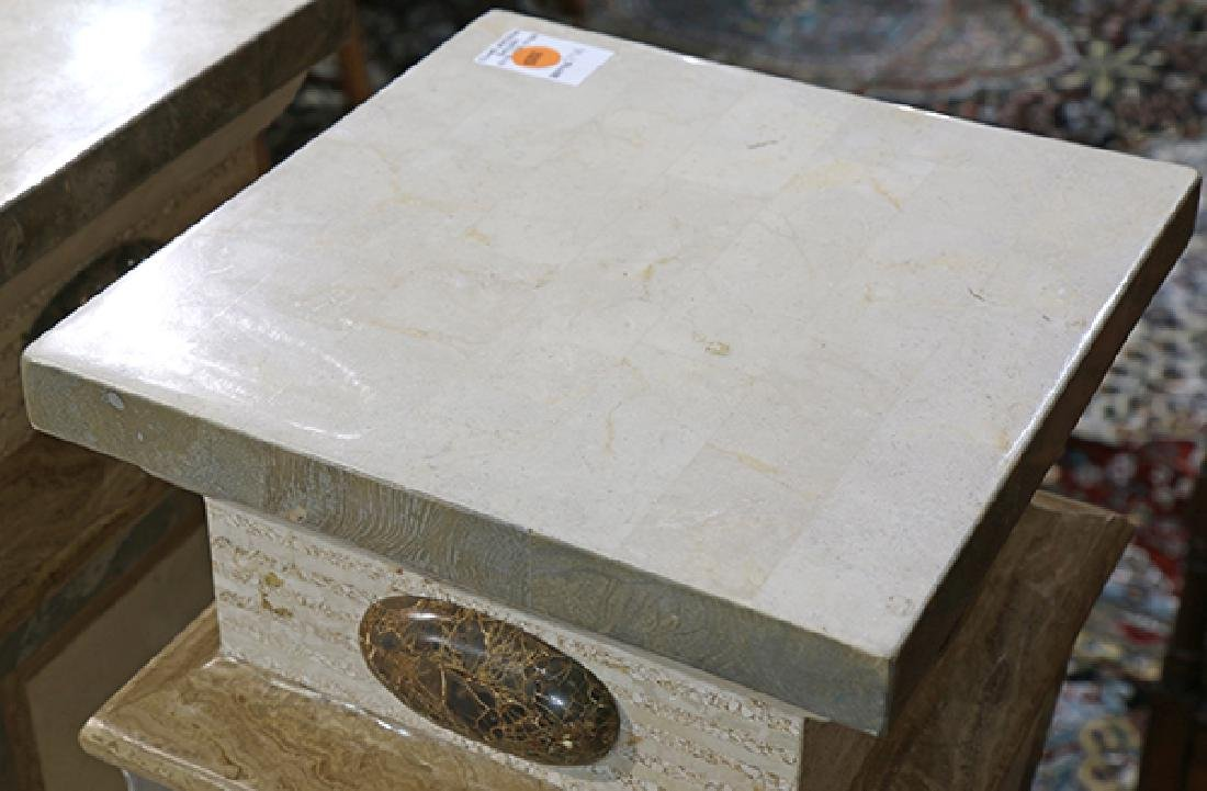 (lot of 3) Classical style faux marble pedestals - 2