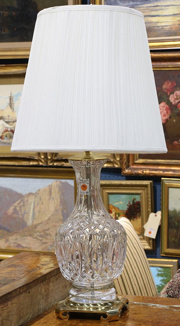 Waterford crystal brass mounted table lamp