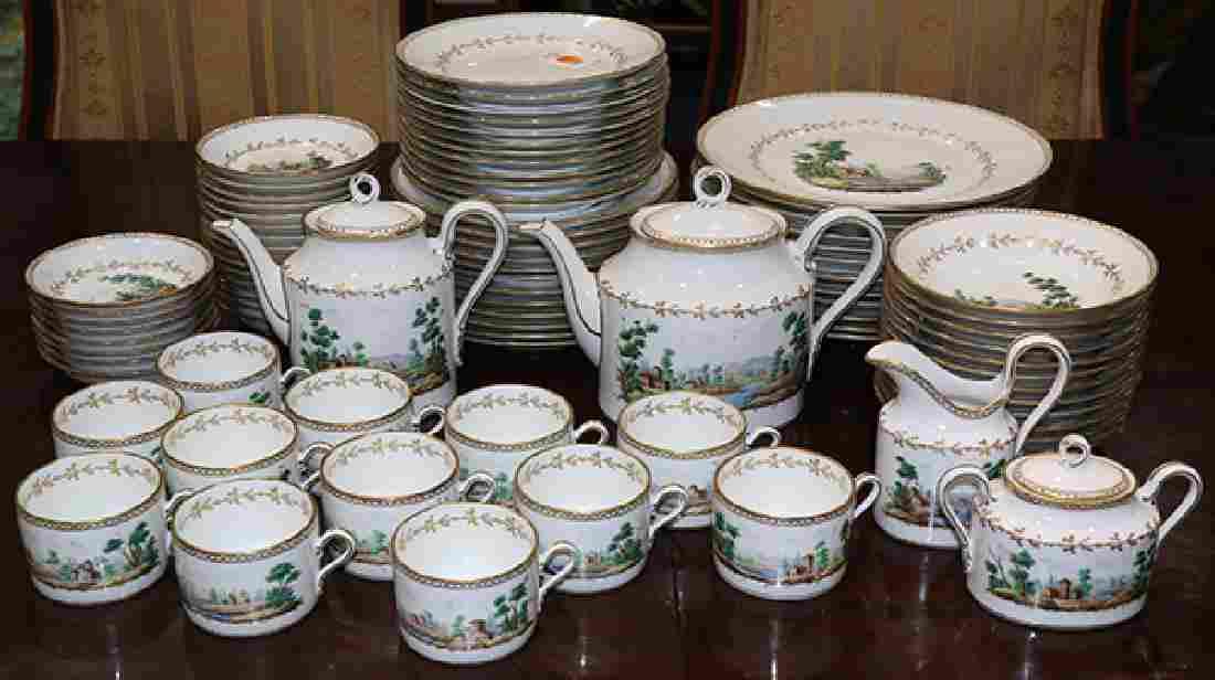 (lot of 88) Richard Ginori porcelain partial table