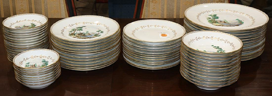 (lot of 88) Richard Ginori porcelain partial table - 2