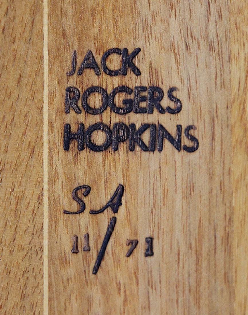 Jack Rogers Hopkins sculpted low table, having a shaped - 8