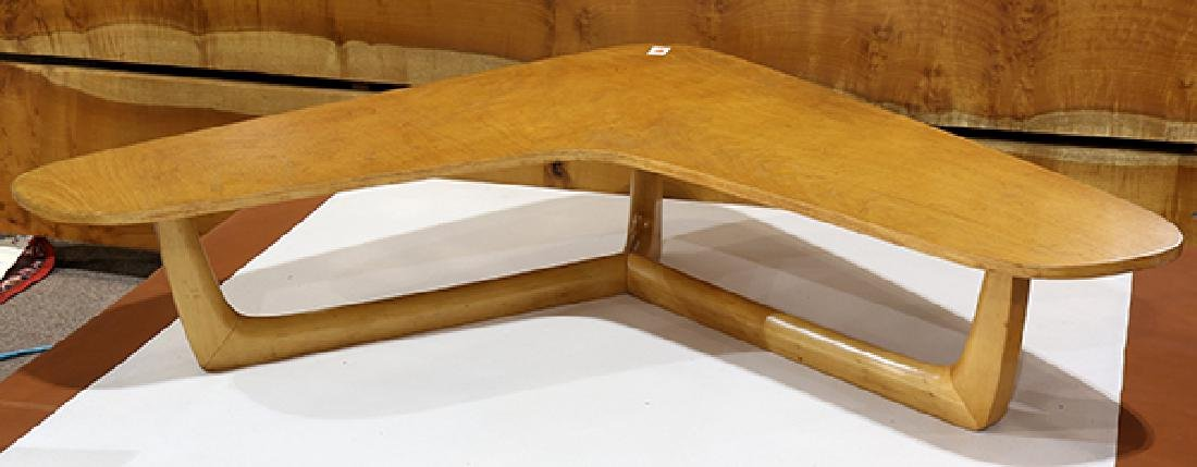 Mid-Century Modern maple boomerang table