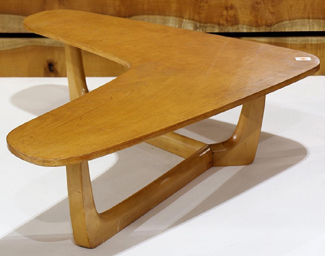 Mid-Century Modern maple boomerang table - 2